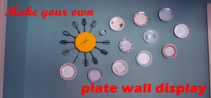 how to: A Plate (and clock) Wall Display
